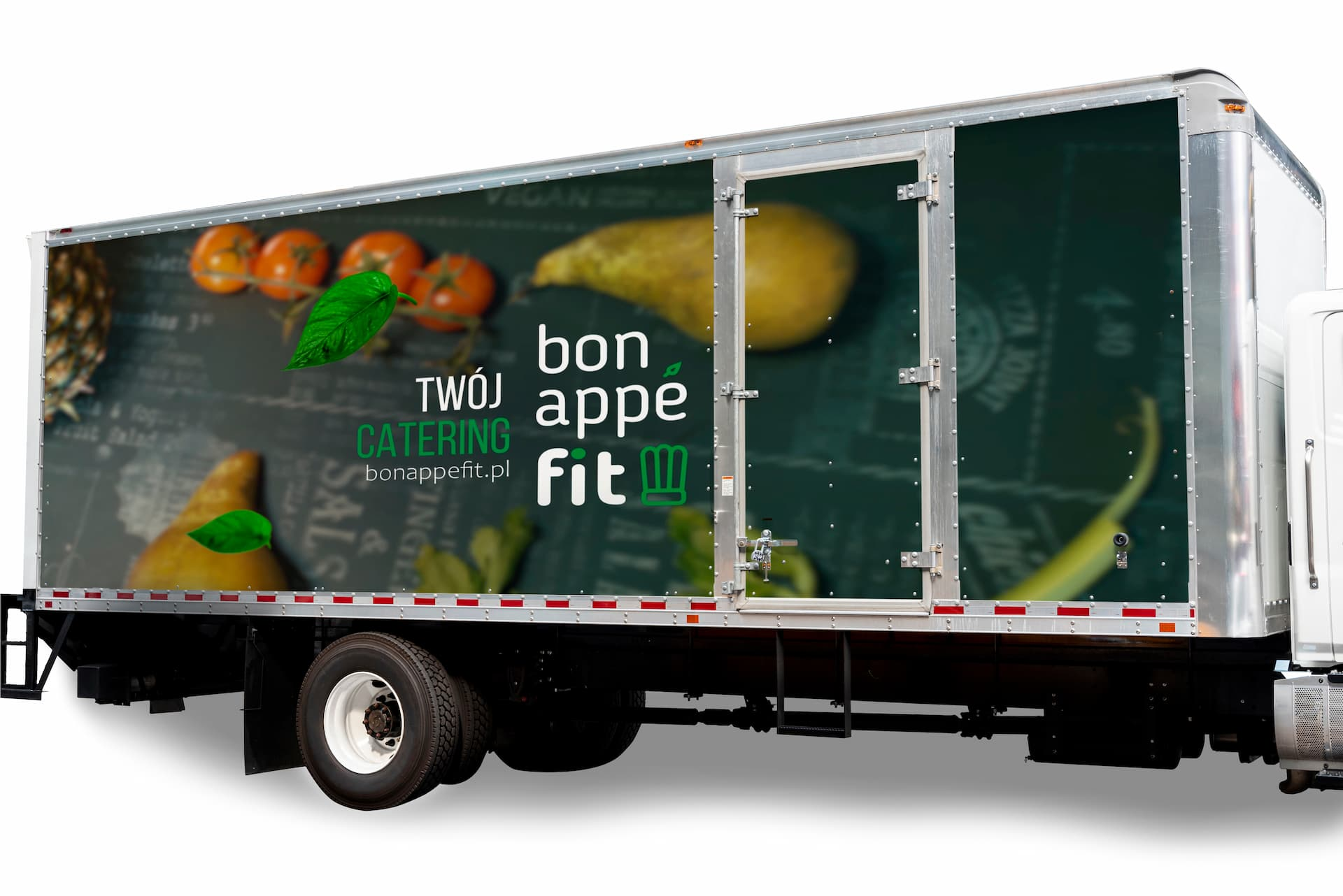 Samochód ciężarowy z logo bonappefit