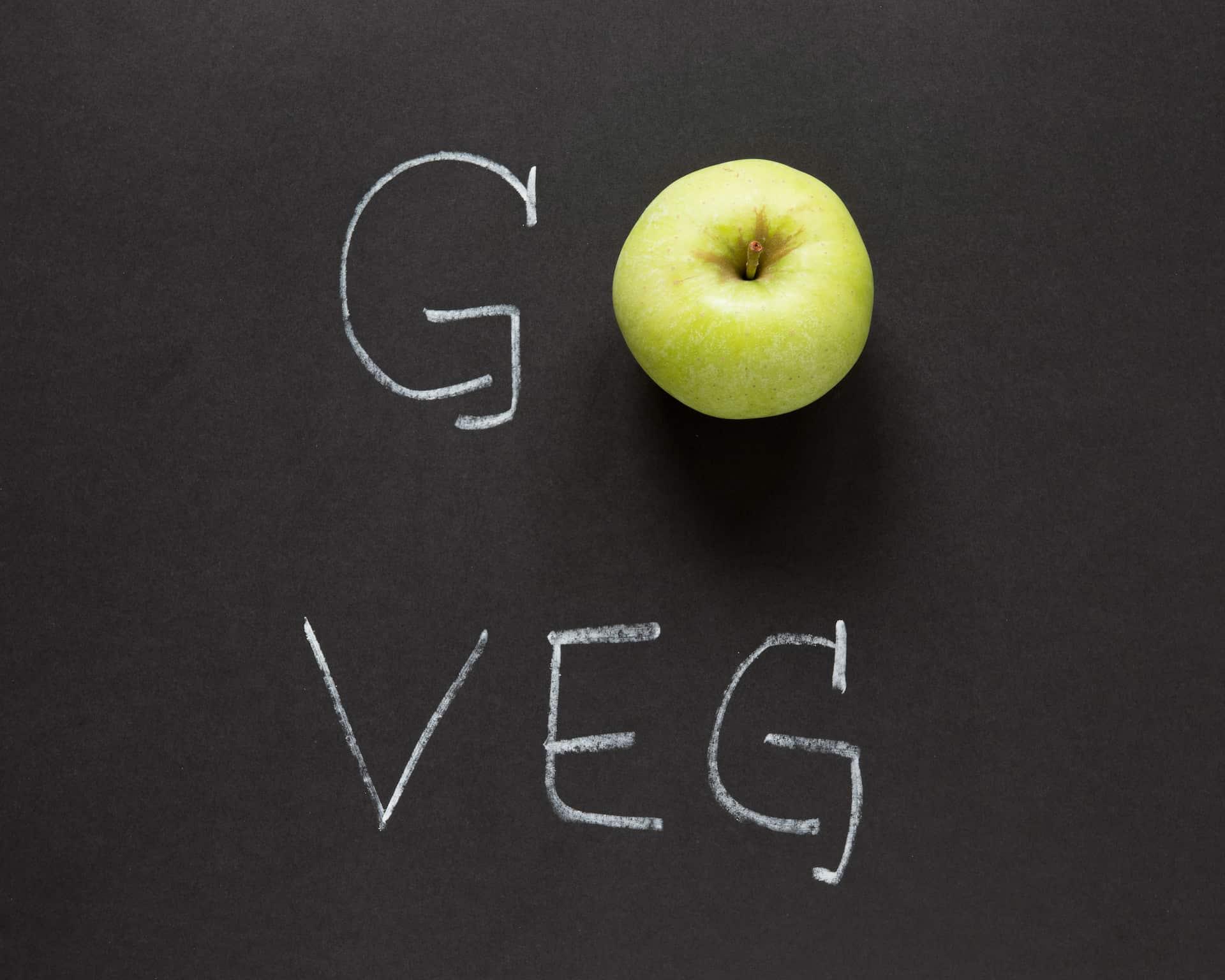 GoVege - Napis promujący wegetarianizm
